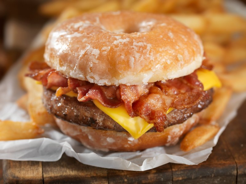 diet and fatherhood donut cheese burger