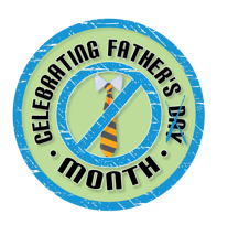 celebrating fathers month logo