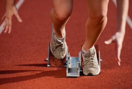 runner at start line