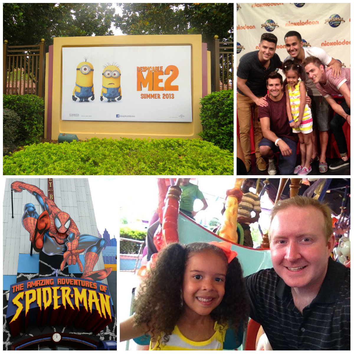 despicable me, daddy-daughter, #dm, #dm2, #despicableme, minion, #minion, universal, #universal, gru, minion mayhem, vip tour, big time rush,