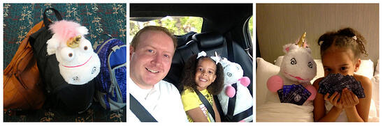 despicable me, daddy-daughter, #dm, #dm2, #despicableme, minion, #minion, universal, #universal, gru, minion mayhem, fluffy unicorn, travel