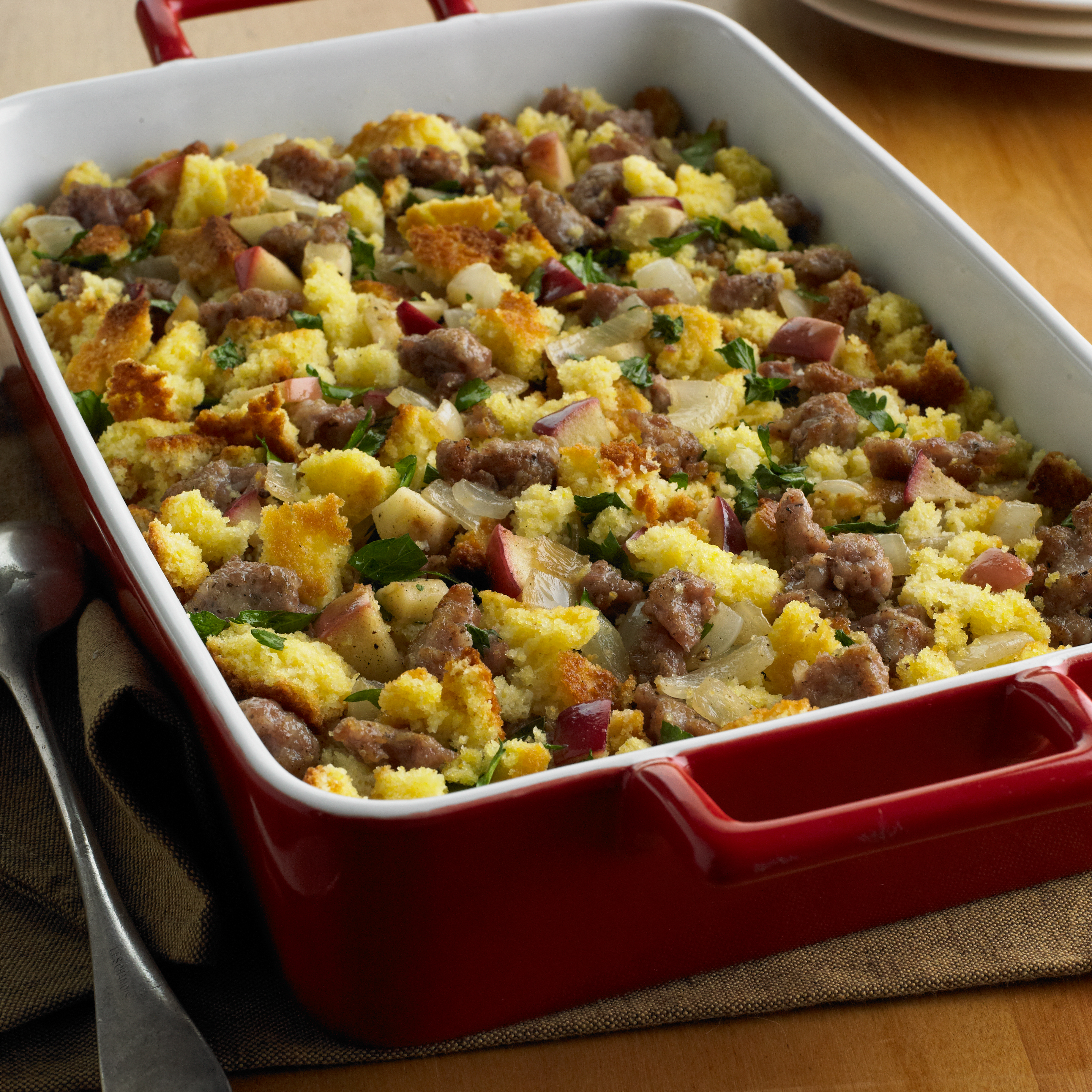 Corn Bread, Sausage and Apple Stuffing HR