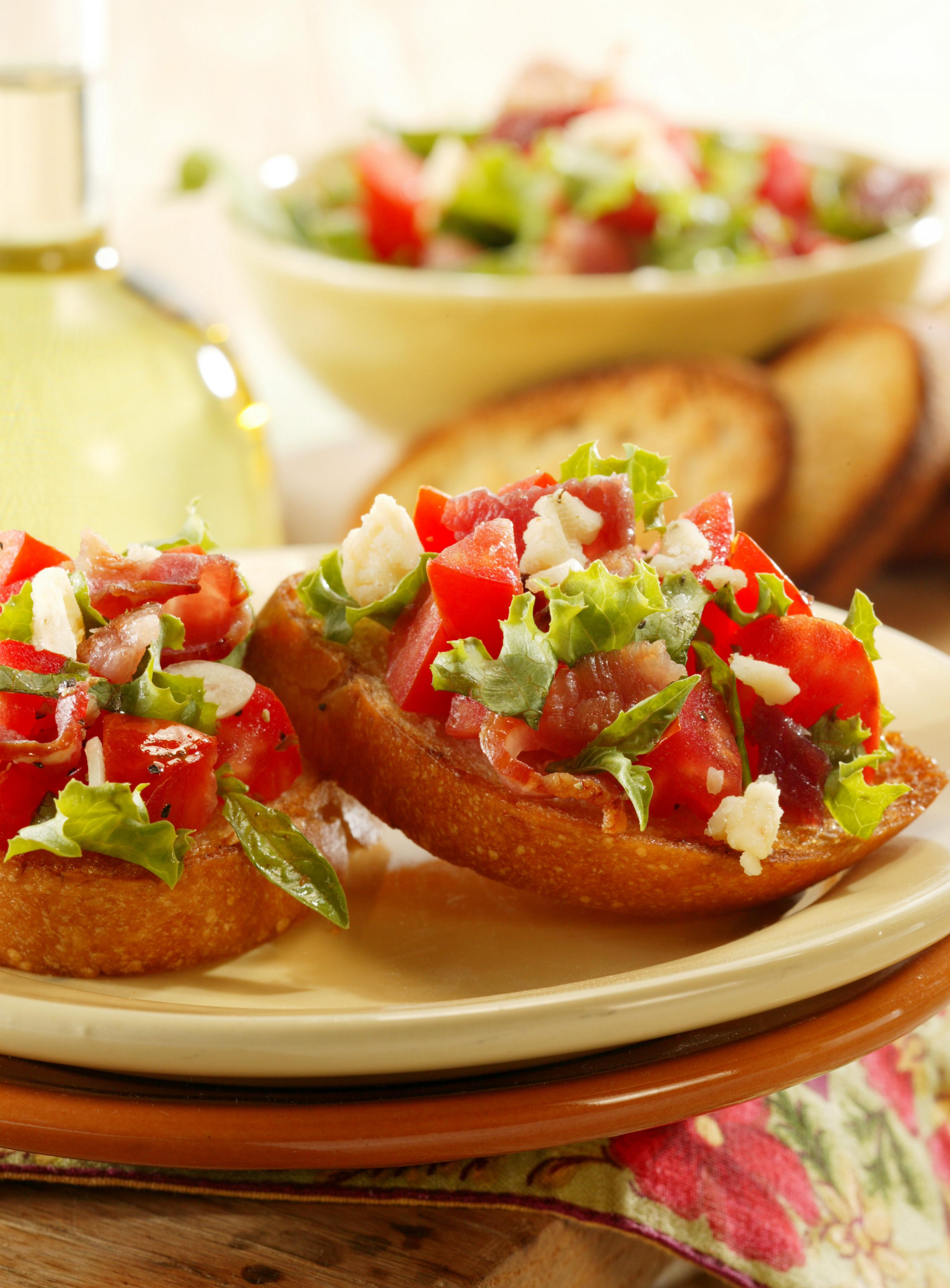 bacon lettuce tomato brushetta hr