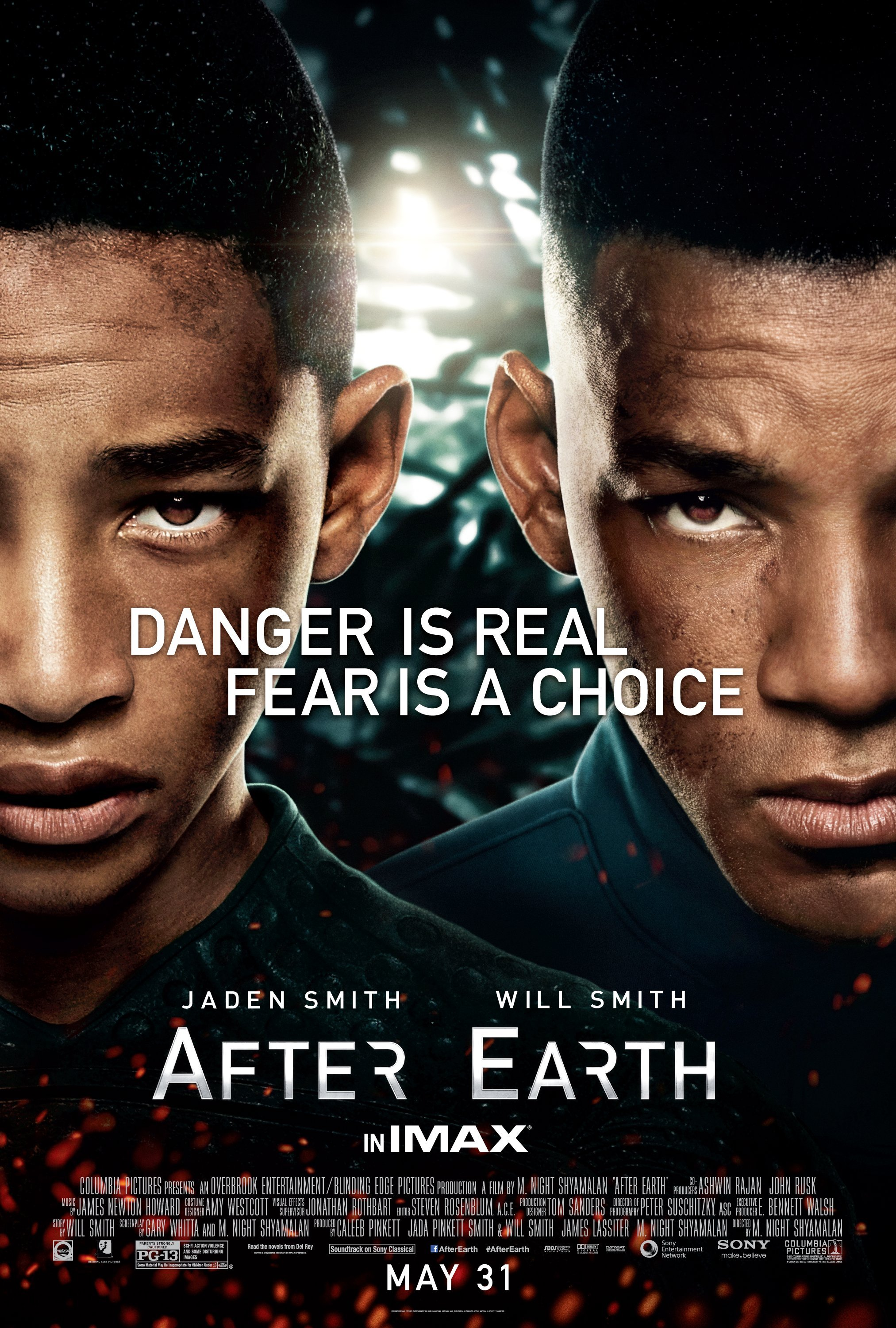 after earth danger is real fear is a choice will smith jaden smith