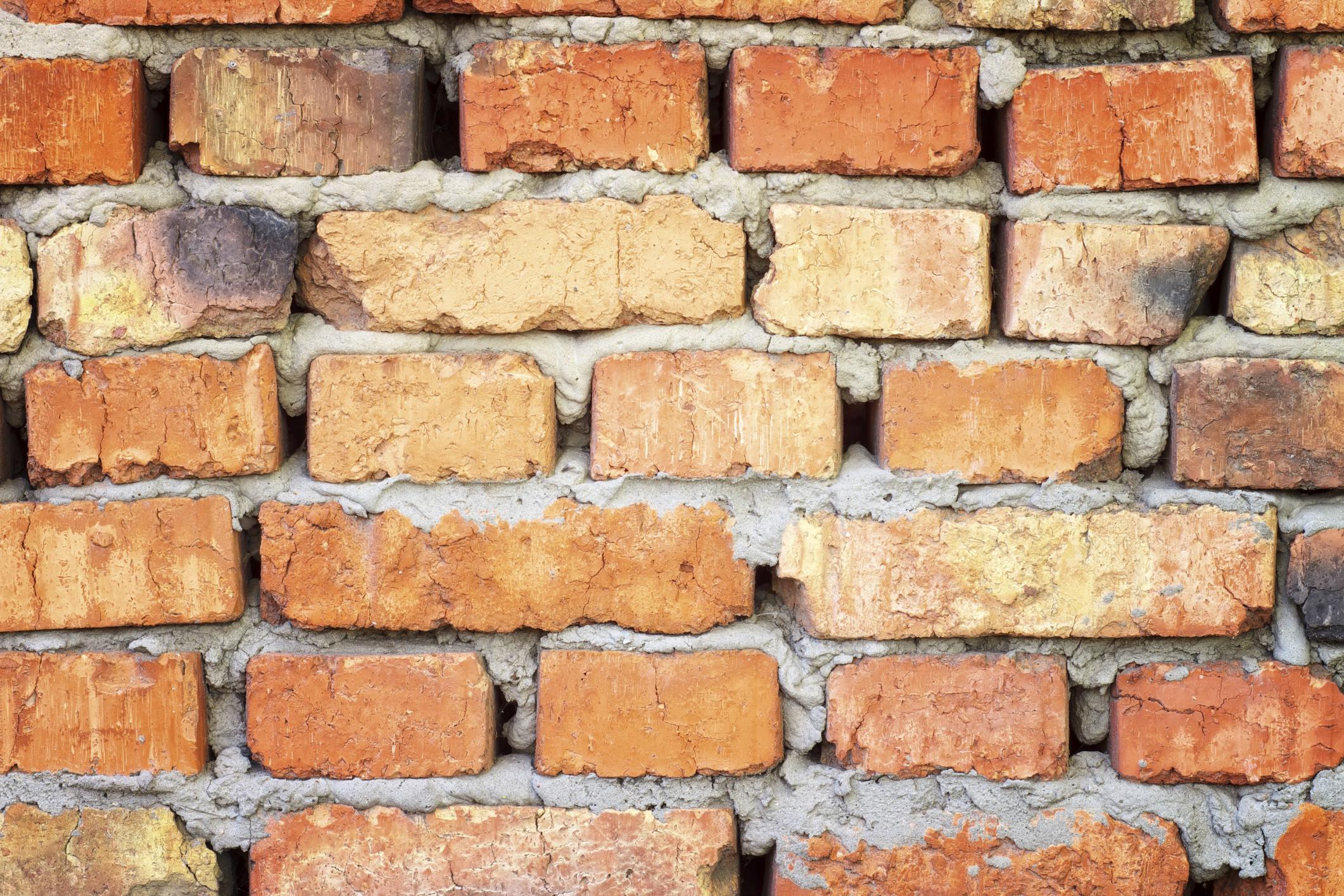 mind the gap brick wall