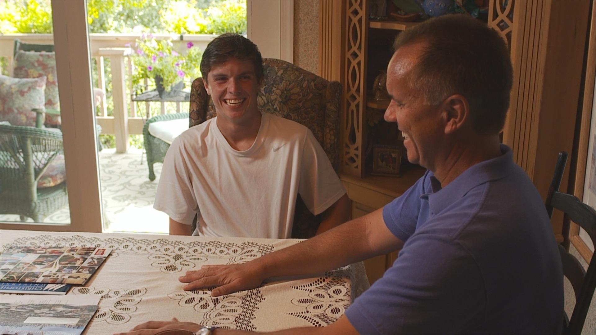 gerry sandusky with his son