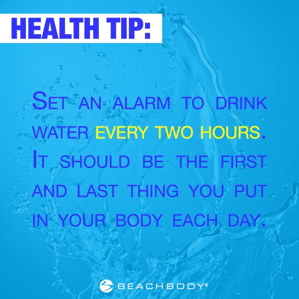 p90x beach body health tip