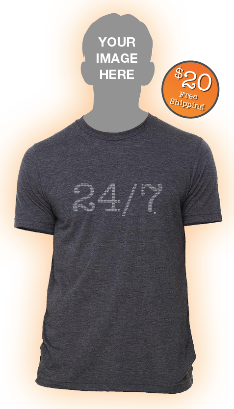 24/7 Dad Tee Shirt $20 free shipping