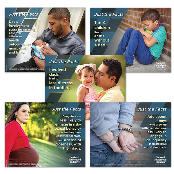 Father Facts Posters Set of 5