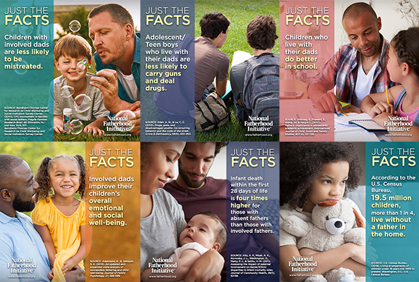 [Free Resource] 12 New Sharable Father Facts Images from National Fatherhood Initiative®